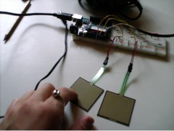 Fig.2 Testes com sensores