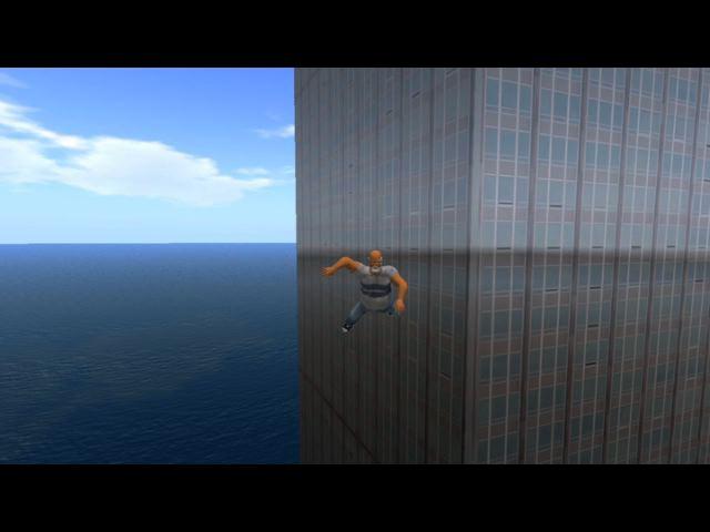 Figura 1: Avatar salta prédio