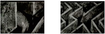Figura 5: Sequência de animação de Fernando Rabelo (tinta a óleo sobre vidro e papel) filmada em 16 mm e digitalizada para segunda versão de O bloqueio.