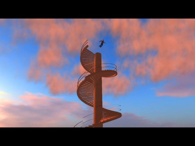Figura 14: Avatar se joga da escada em espiral