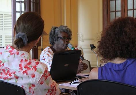 Conceição Evaristo em encontro no Programa Avançado de Cultura Contemporânea (PACC/ UFRJ).