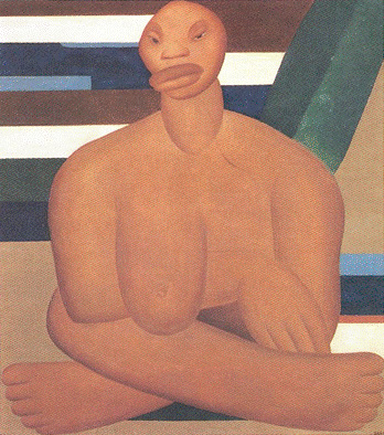 A Negra, Tarsila do Amaral, 1923