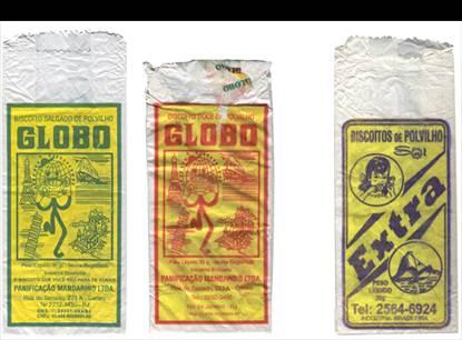 Figura 5: Embalagens de biscoito <i>Globo</i> e biscoito <i>Extra.</i>