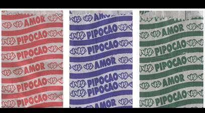 Figura 7: Embalagens de pipoca impressas a partir da mesma matriz.