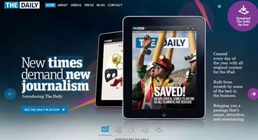 Figura 1: Jornal digital <i>The Daily</i>, exclusivo para formato <i>Ipad</i> (2011).