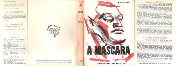 Figura 3: Capa e orelhas de títulos do Clube do Livro, de fevereiro de 1962, desenvolvida por Vicente Di Grado. É possível perceber o padrão visual da editora.