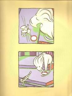 Figura 16: <i>Ação-para-ação</i> em quadros de <i>Viriato e o leão</i>.