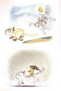 Figura 17: <i>Cena-a-cena</i> em quadros de <i>O gato Viriato</i>.