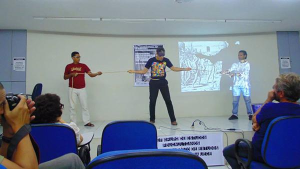 Figura 11: <em>Performance</em> antropofágica na UECE