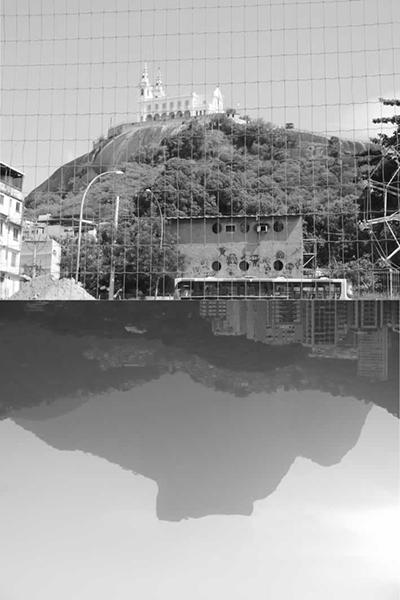 Figura 5: <em>A Penha da Gávea</em>: fotomontagem de Alexandre Faria, sobre a poesia de Rogério Batalha
