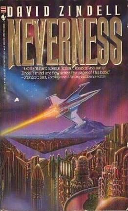 Figura 3 - Capa de Neverness, romance de David Zindell: elementos que apelam aos clichês do gênero.