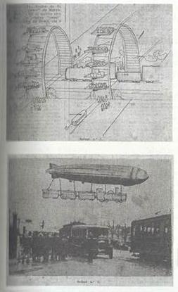 Figura 2 - Uma antecipação bem-humorada do que viria a ser uma ponte aérea Rio-São Paulo no início do século 20, por autor anônimo.