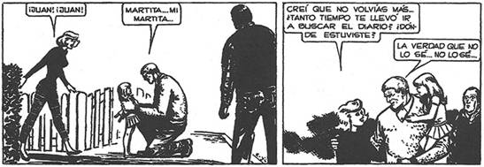 Figura 2 – El Eternauta (Oesterheld, Lopéz, 2008, p. 349).