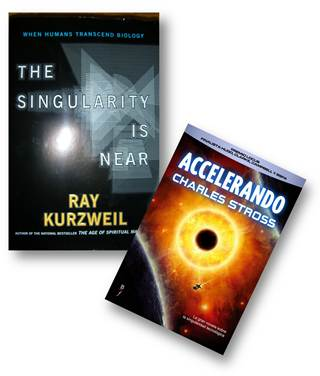 Figura 1 – The singularity is here, de Ray Kurtzweill, e Accelerando, de Charles Stross.