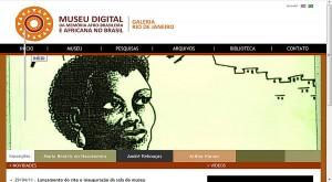 Página inicial do Museu Afrodigital em 2011 quando foi inaugurado