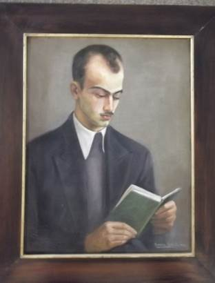 Retrato do escritor Murilo Rubião. Aurélia Rubião, 1937. Óleo sobre tela. 65 x 48 cm. Fonte: AMR/AEM/CELC/UFMG.
