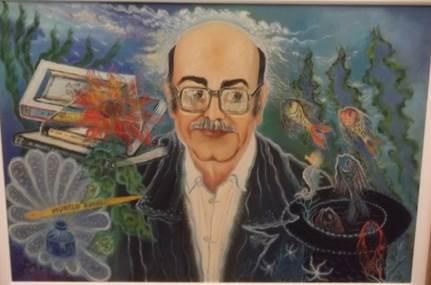 Retrato do escritor Murilo Rubião. Petrônio Bax, 1987. Óleo sobre tela. 70 x 60 cm. Fonte: AMR/AEM/CELC/UFMG.
