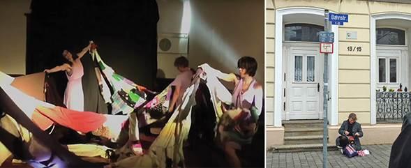 """A todo trapo"", performance en video, Grupo Ensayo Abierto. Performance en Mülheim."