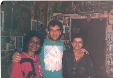 Zefa, o jovem pesquisador e Francisca – Arquivo R. Marques.