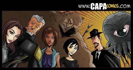 Detrito, Tenório Cavalcanti, Não-Tão-Super, Seu Joel, A Grafiteira, Polly e Pumpkins: alguns dos personagens criados pela Capa Comics.