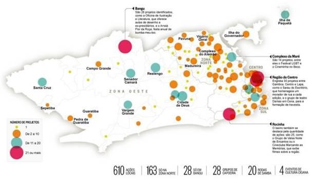 """""""Mapa da cultura carioca feita na raça"""". Filgueiras, Mariana. Jornal O Globo, 30/06/2015. http://oglobo.globo.com/cultura/o-mapa-da-cultura-carioca-feita-na-raca-16305108"""
