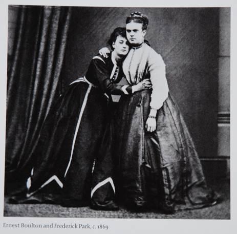 Figura 16: Ernest Boulton, à esquerda, e Frederick Park, à direita, c. 1869