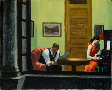 Edward Hopper, Room in New York, 1932