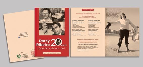 Folder do Seminário Darcy Ribeiro 20 anos – que falta ele nos faz! / Fonte: FUNDAR 2017