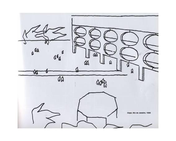 Projeto de CIEP por Oscar Niemeyer