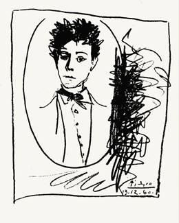 """""""Rimbaud"""", desenho de Pablo Picasso, 1960"""