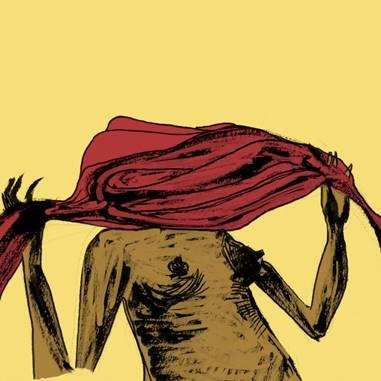 Fig. 1: Gravura de Kiko Dinucci, capa disco Encarnado (2014)