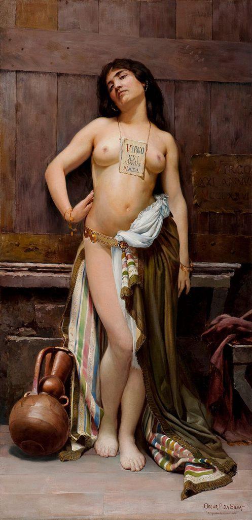 Oscar Pereira da Silva — Escrava romana, OST, 146,5x72,5cm — 1894