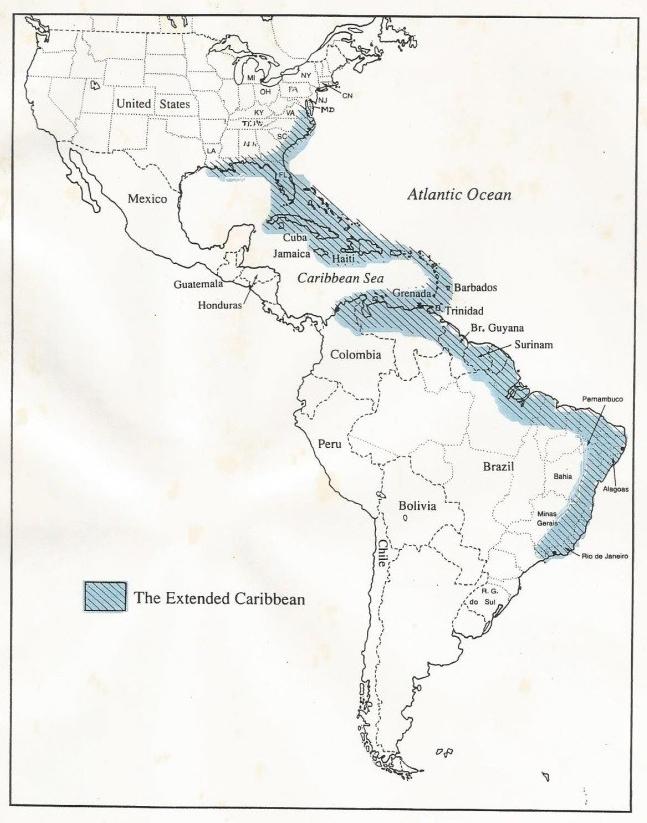 Grande Caribe / Afro-América (Coser, 1994, p. xii)
