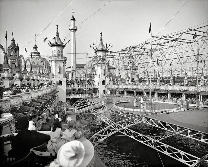 Luna Park, Coney Island, 1905 (Biblioteca do Congresso)