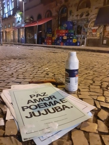 """Paz Amor Poema e Jujuba"" (Rua Imperatriz Leopoldina)"